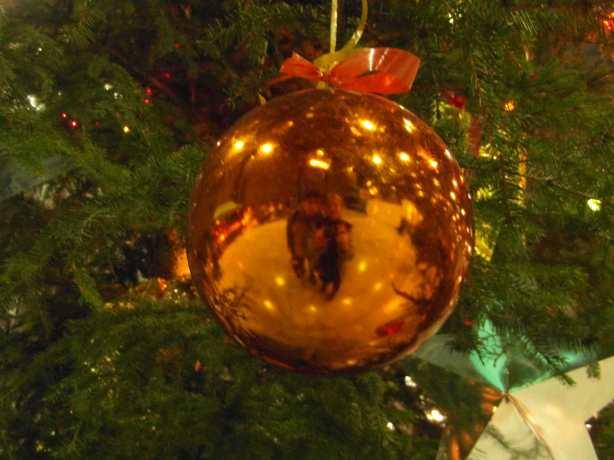 Mirek a Kristi v odrazu baňky přejí Krásné Vánoce