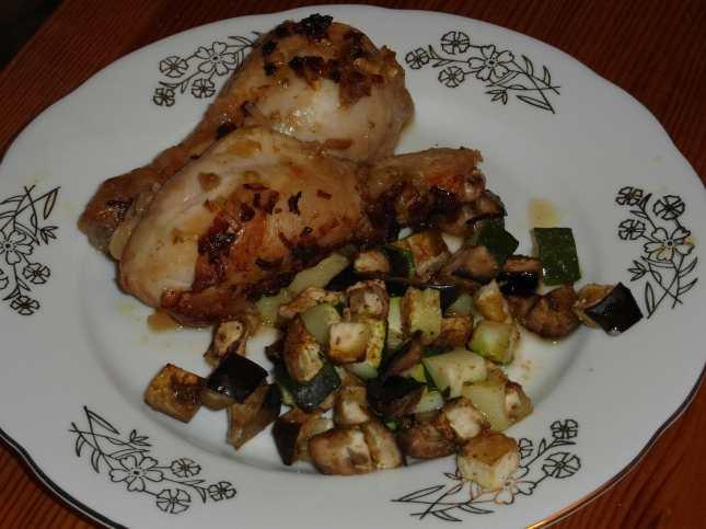 Kyselé kuře s pečenou zeleninou