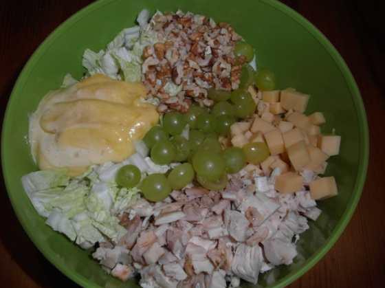 Salát před zamícháním