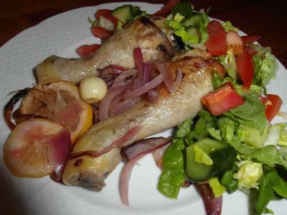 Kuře na citronech servírované