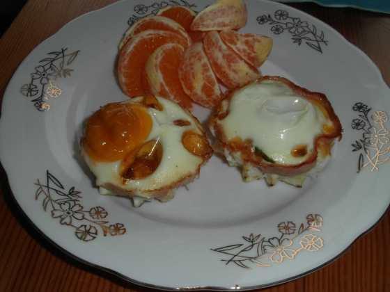 Pečená plněná vejce s mandarinkami