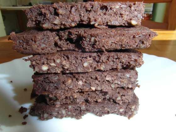Čokoládové brownies z mandlové drti