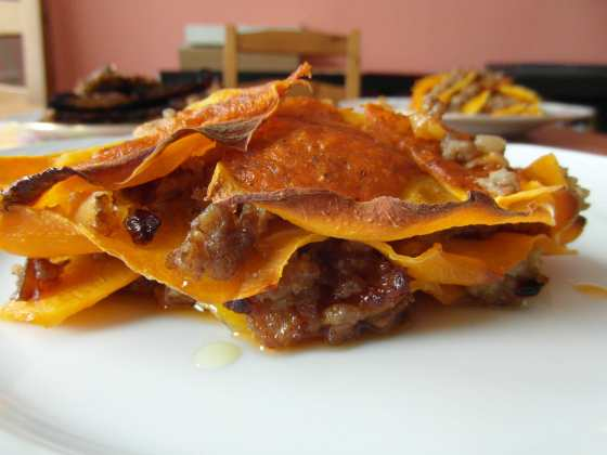 Naservírované dýňové lasagne - jak nefotogenické