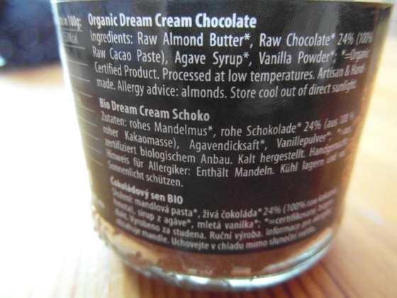 Složení Čokoládového snu BIO od Lifefood