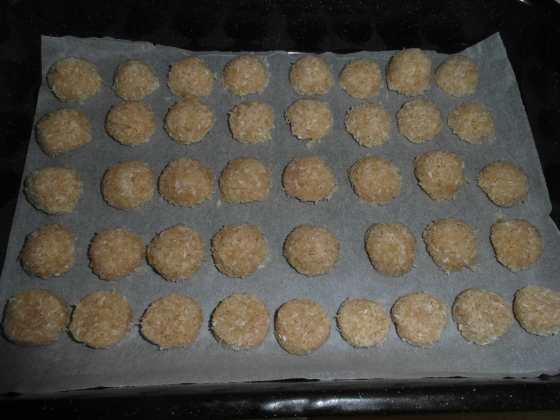 Citrónové kokosky před chlazením