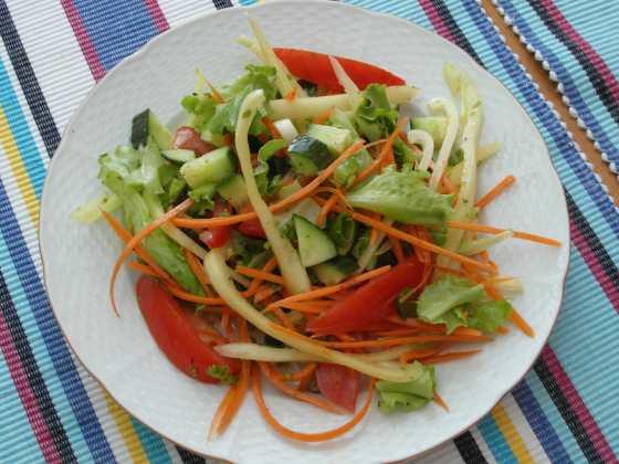 Snadný míchaný salát s vinaigrette