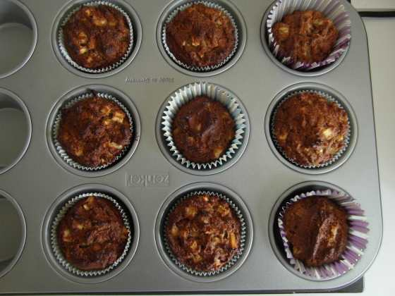 Muffiny po vypečení