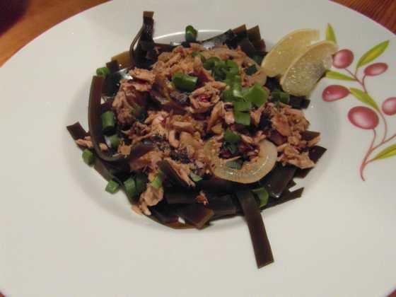 Tuňákový salát s mořskými řasami