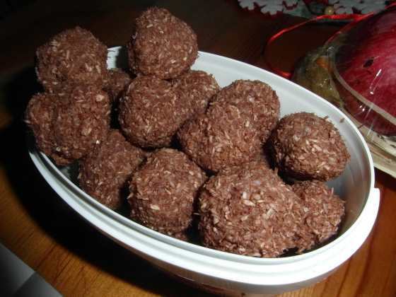 Kokosové kuličky s kakaem a rumem