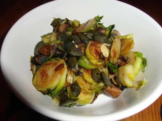 Kapusta, houby a dýňové semínko