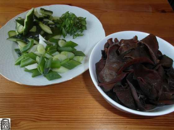 Zelenina a houby připravené