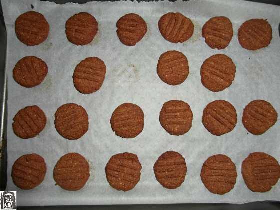Koka sušenky po dopečení