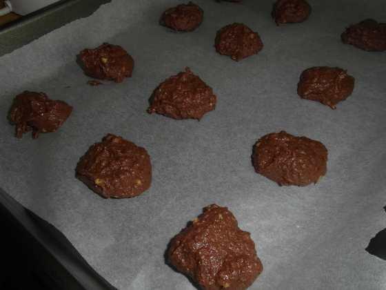 Avokádové sušenky před pečením