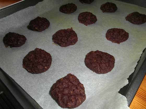 Avokádové sušenk po upečení
