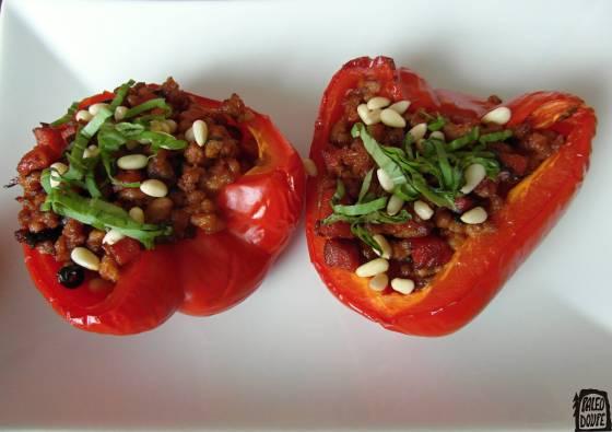 Plněné zapečené papriky na italský způsob
