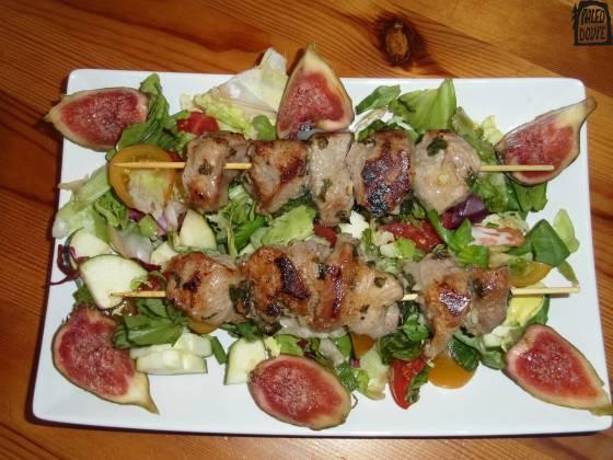 Telecí kebaby na řecký způsob